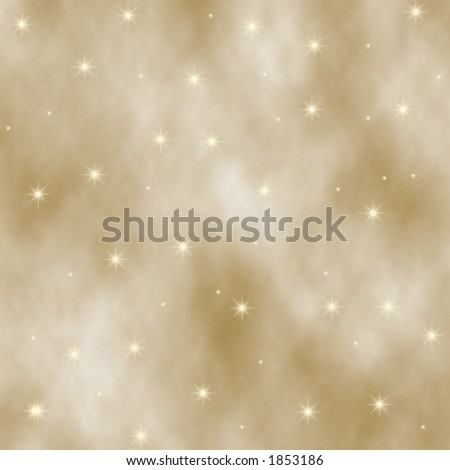 Tan digital background and gold stars. - stock photo