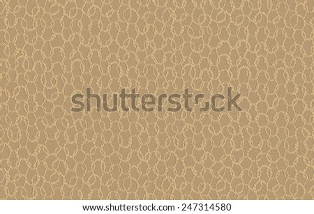 Tan Honeycomb Background Fabric - stock photo