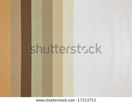 Tan tone color palette samples of fabric