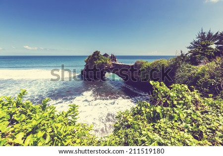 Tanah Lot Temple, Bali, Indonesia - stock photo