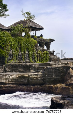 Tanah Lot Temple in Bali - stock photo