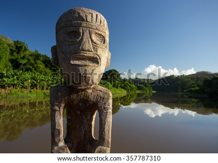 Tanama & Chavon River, Punta Cana, Dominican Republic, famous from Vietnam Hollywood Movies - stock photo