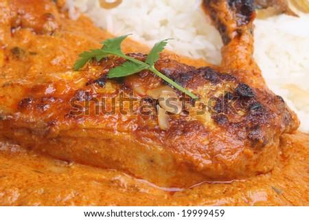 Tandoori chicken masala curry - stock photo