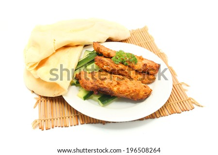 Whole Wheat Indian Naan And Grilled Tandoori Chicken Wraps Recipes ...