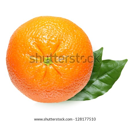 Tangerine isolate on a white background - stock photo