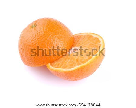 tangerine on a white background