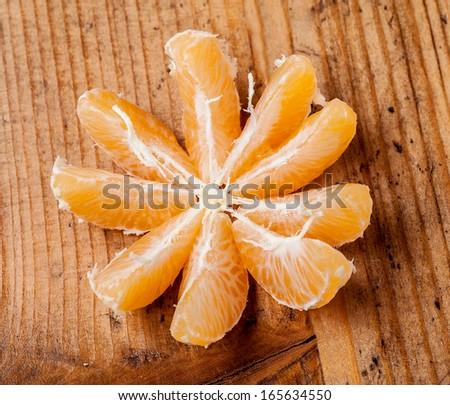 Tangerine slices - stock photo