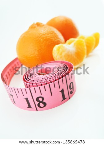 tangerines and measure tape