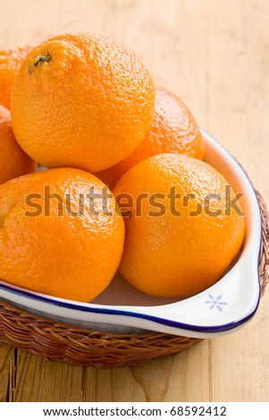tangerines fruits  on wooden table