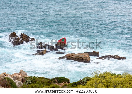 Tangier, a major city in northern Morocco. It is the capital of the Tanger-Tetouan-Al Hoceima Region and of the Tangier-Assilah prefecture of Morocco. - stock photo