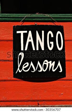 Tango Lessons - Buenos Aires - stock photo