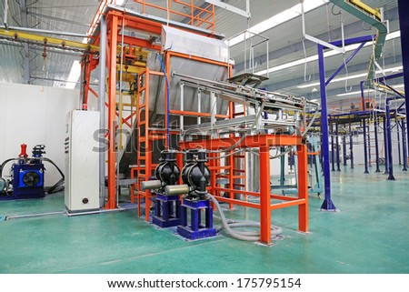 TANGSHAN - DECEMBER 22: The Solar energy production equipment, in a manufacturing enterprise on december 22, 2013, tangshan, china.