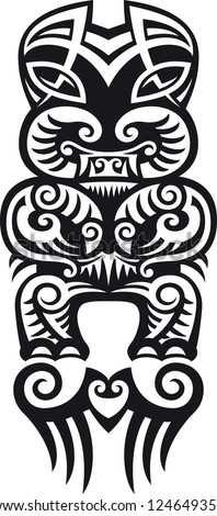 taniwha monster maori styled tattoo design stock illustration 124649359 shutterstock. Black Bedroom Furniture Sets. Home Design Ideas