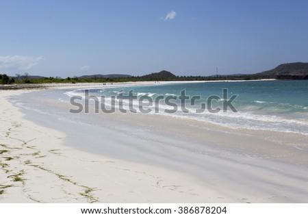tanjung aan beach in Lombok, Indonesia - stock photo