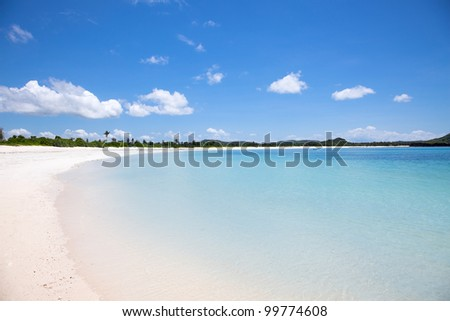 Tanjung Aan white sand  beach, Lombok, Indonesia - stock photo