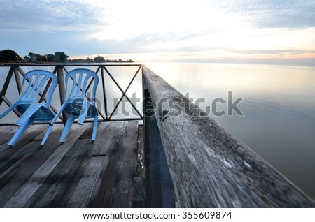 Tanjung Sepat lover jetty in the morning light, Malaysia