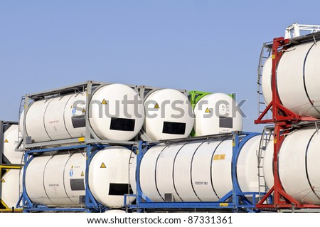 tank containers - stock photo