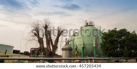 Tank farm  - stock photo
