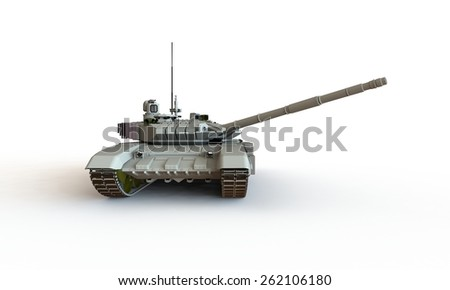 Tank isolated on white t-90