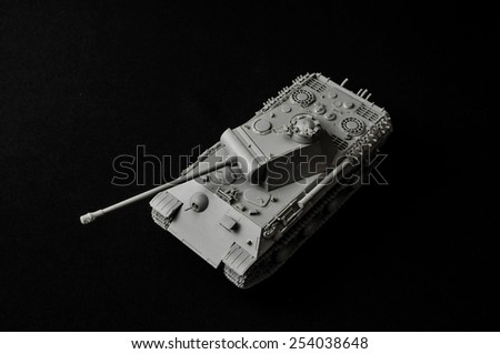 Tank. Track tank from the Second World War. Fighting vehicle. - stock photo