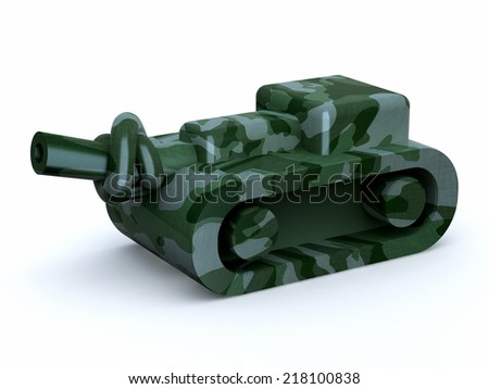 tank with knot in the cannon, stop the war, 3d illustration