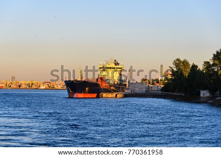 Tanker moored in port Saint-Petersburg