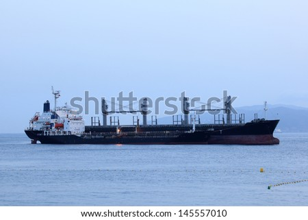 Tanker ship in harbor