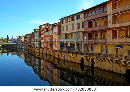 Tanners' houses on the Agout river, Castres, France