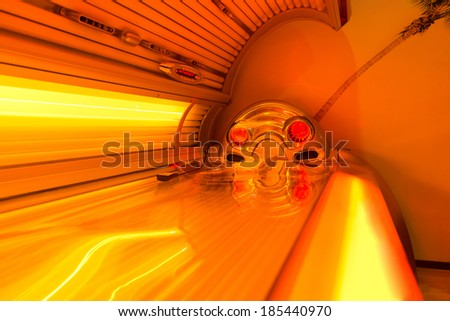 Tanning Bed Solarium At Healthy Club Spa - stock photo