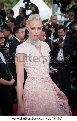 Tanya Dziahileva attends the opening ceremony and premiere of La Tete Haute ( Standing Tall ) during the 68th annual Cannes Film Festival on May 13, 2015 in Cannes, France - stock photo