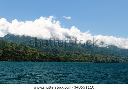 Tanzania, Malawi lake (Nyasa) is of the Africa third largest lake is an African Great Lake.  - stock photo
