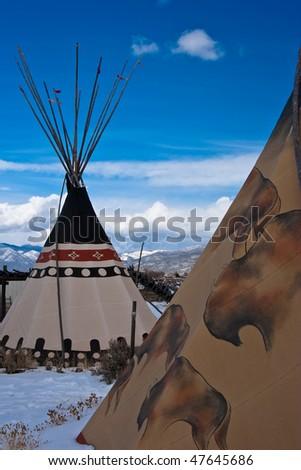 Taos Tepee 2 - stock photo