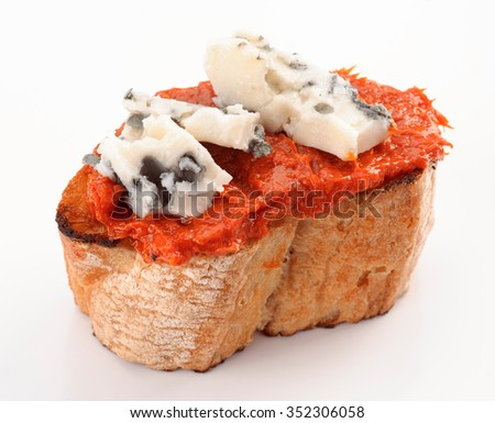 tapa blue cheese, on cheese creamy