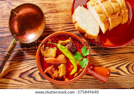 Tapas Callos madrilena typical from Madrid Spain - stock photo