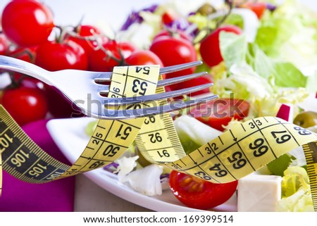 Tape bottom food vegetable healthy diet - stock photo