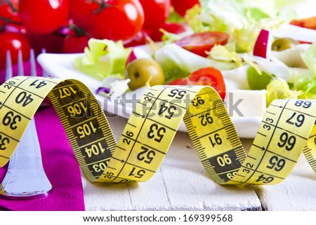 Tape bottom food vegetable healthy diet - stock photo
