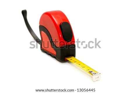 tape-line isolated on a white background - stock photo