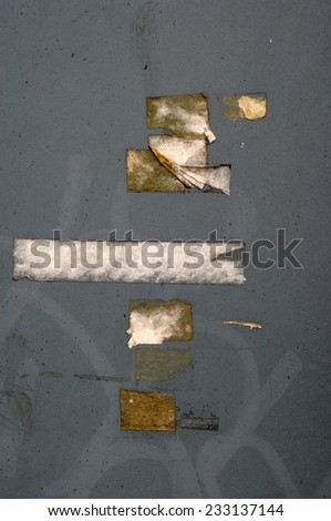 tape marking - stock photo