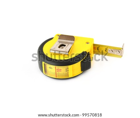tape measure,isolated on white - stock photo