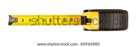 tape measure,isolated on white with clipping path. - stock photo