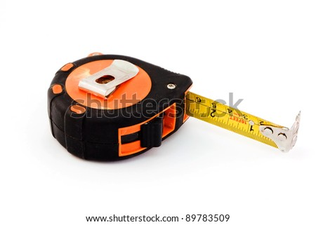 Tape measure isolated over white