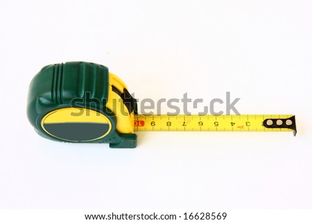 tape measure meter on the white background