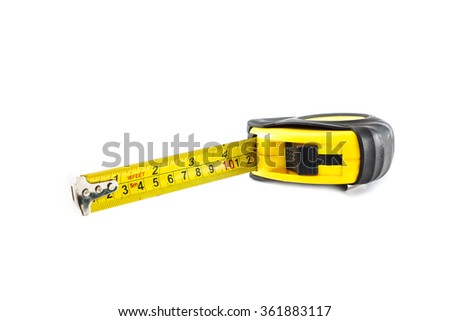 tape measure on isolated background