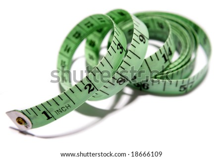 Tape measure over white