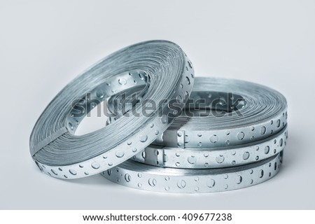 Tape perforated for ventilation - stock photo