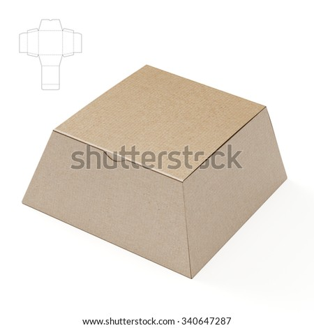 Tapered Box with Die Cut Template