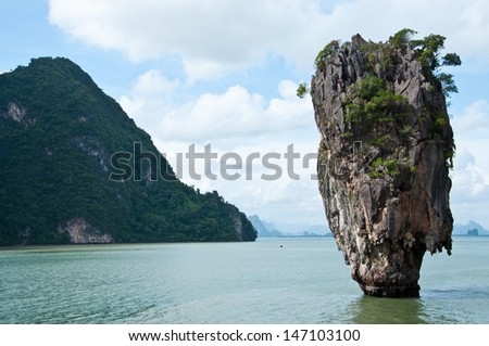 Tapu island or James Bond island in Phang Nga bay,Thailand