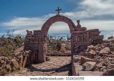 Taquile Island - Titicaca Lake - stock photo