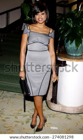 Taraji P. Henson at the 2009 Essence Black Women in Hollywood Luncheon held at the Beverly Hills Hotel in Beverly Hills on February 19, 2009.  - stock photo