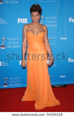 TARAJI P. HENSON at the 37th Annual NAACP Image Awards at the Shrine Auditorium, Los Angeles. February 25, 2006  Los Angeles, CA  2006 Paul Smith / Featureflash